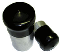 Round vinyl caps